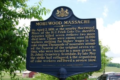 Morewood Massacre Marker image. Click for full size.