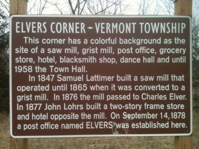 Elvers Corner Marker image. Click for full size.