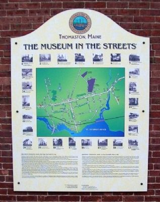 Welcome to Thomaston, Maine, the Town That Went to Sea Marker image. Click for full size.