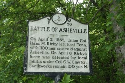 Battle of Asheville Marker image. Click for full size.