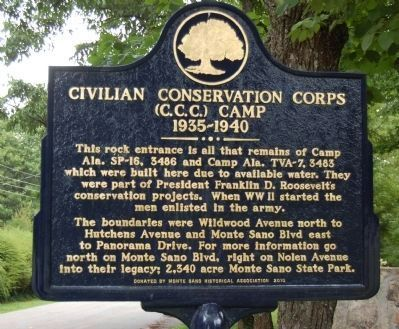 CIVILIAN CONSERVATION CORPS CAMP Marker image. Click for full size.