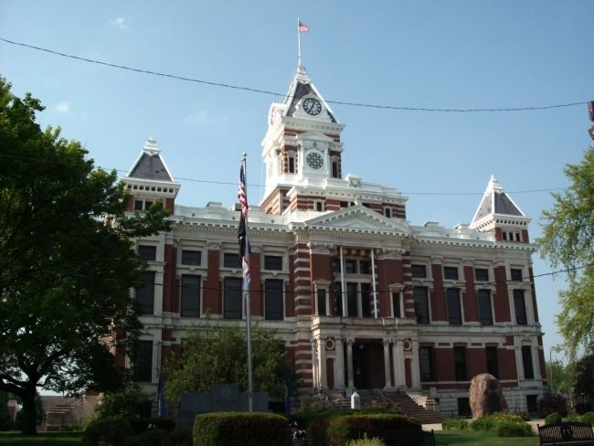 North Side - - Johnson County Courthouse - Franklin, Indiana image. Click for full size.