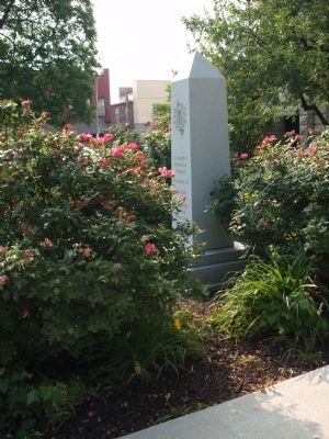 Other View - - Johnson County Revolutionary War Memorial Marker image. Click for full size.
