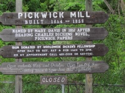 Pickwick Mill Marker image. Click for full size.