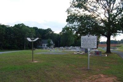 Ebenezer Methodist Church Marker<br>Looking East Along Due West Highway image. Click for full size.