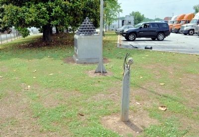 Confederate Army Command Changed Marker Post image. Click for full size.
