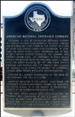 American National Insurance Company Marker image. Click for full size.