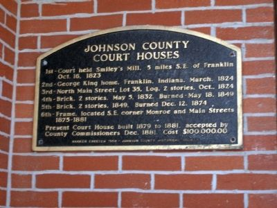 Johnson County Court Houses Marker image. Click for full size.
