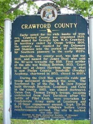 Crawford County Marker image. Click for full size.