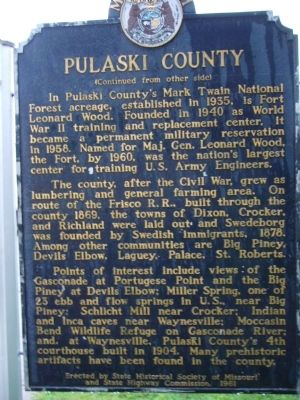 Pulaski County Marker image. Click for full size.