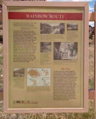 Rainbow Route / Western Fremont County Marker - Side A image. Click for full size.