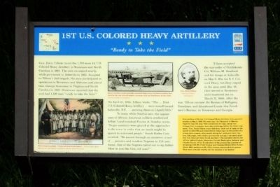 1st U.S. Colored Heavy Artillery Marker image. Click for full size.