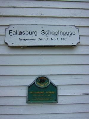 Fallasburg School constructed in 1867 image. Click for full size.