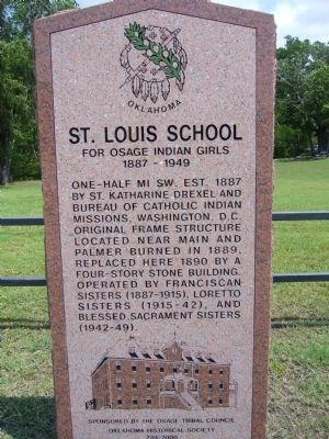 St. Louis School Marker image. Click for full size.