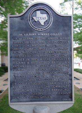 Dr. Lilburn Howard Colley Marker image. Click for full size.