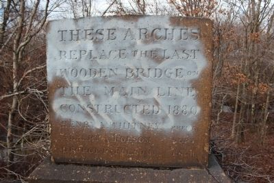 Last Wooden Bridge Marker image. Click for full size.