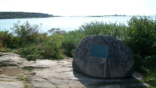 The Battle of Cape Porpoise (Goat Island) Marker