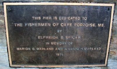 The Fishermen of Cape Porpoise, Me. Marker image. Click for full size.