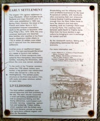 Early Settlement Marker image. Click for full size.