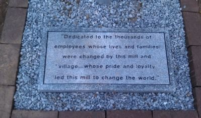 Dedication plaque at base of marker image. Click for full size.