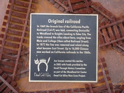 Original railroad Marker image. Click for full size.