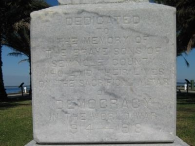 Seminole County World War Monument image. Click for full size.