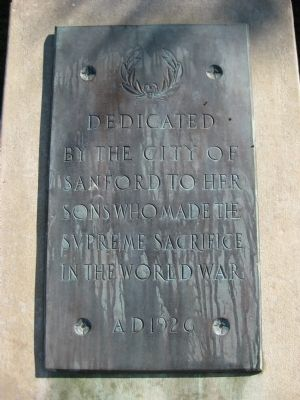 City of Sanford World War Memorial image. Click for full size.