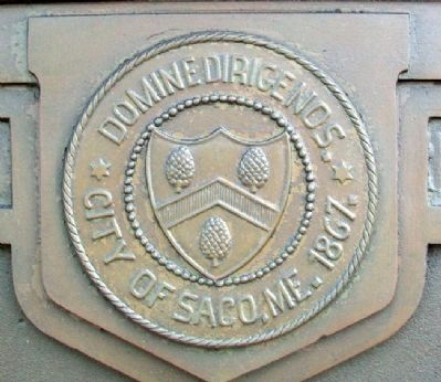 City Seal on World War Memorial Marker image. Click for full size.