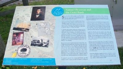 Samuel Brannan and the Gold Rush Marker image. Click for full size.