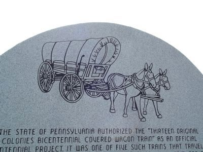 Artwork on the front of the marker image. Click for full size.