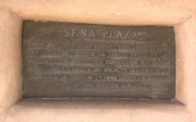 Sena Plaza Plaque image. Click for full size.