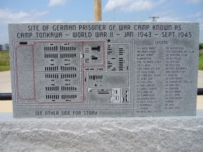 Camp Tonkawa Marker <i>(front)</i> image. Click for full size.
