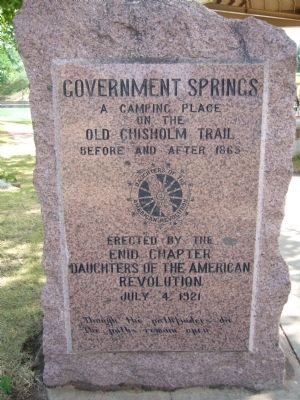 Government Springs Marker image. Click for full size.