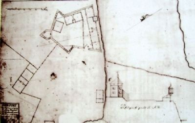 Map on Fort Saco in 1693 / Le Fort Saco en 1693 Marker image. Click for full size.