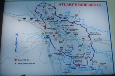 Map of Stuart's Ride Route image. Click for full size.