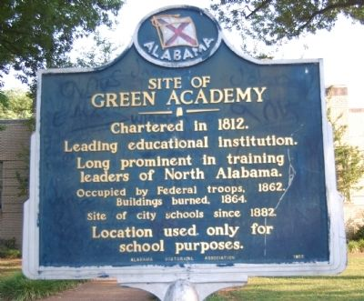 Site of Green Academy Marker image. Click for full size.