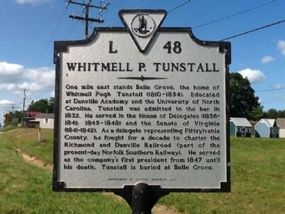 Whitmell P. Tunstall Marker image. Click for full size.