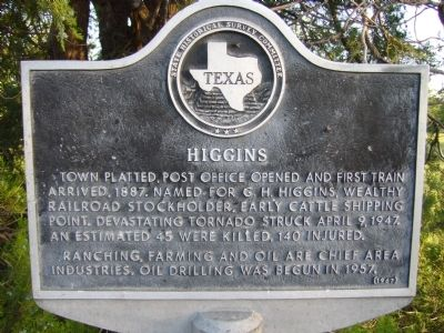 Higgins Marker image. Click for full size.