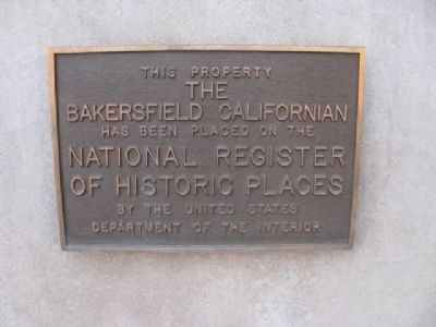 Bakersfield Californian Marker image. Click for full size.