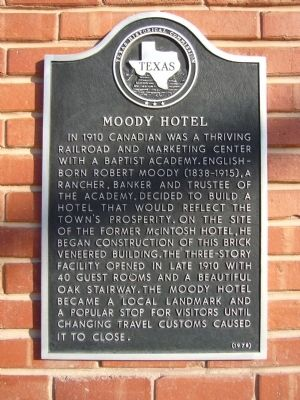 Moody Hotel Marker image. Click for full size.