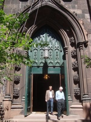 First Presbyterian Church Entrance image. Click for full size.