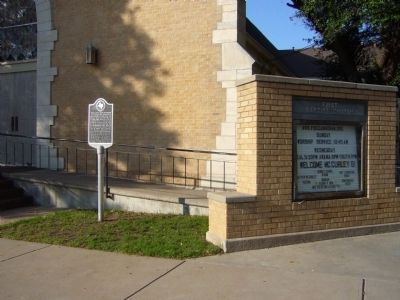 First Baptist Church of Canadian Marker image. Click for full size.