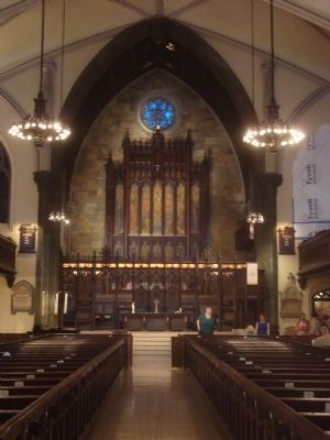 Interior of the First Presbyterian Church image. Click for full size.