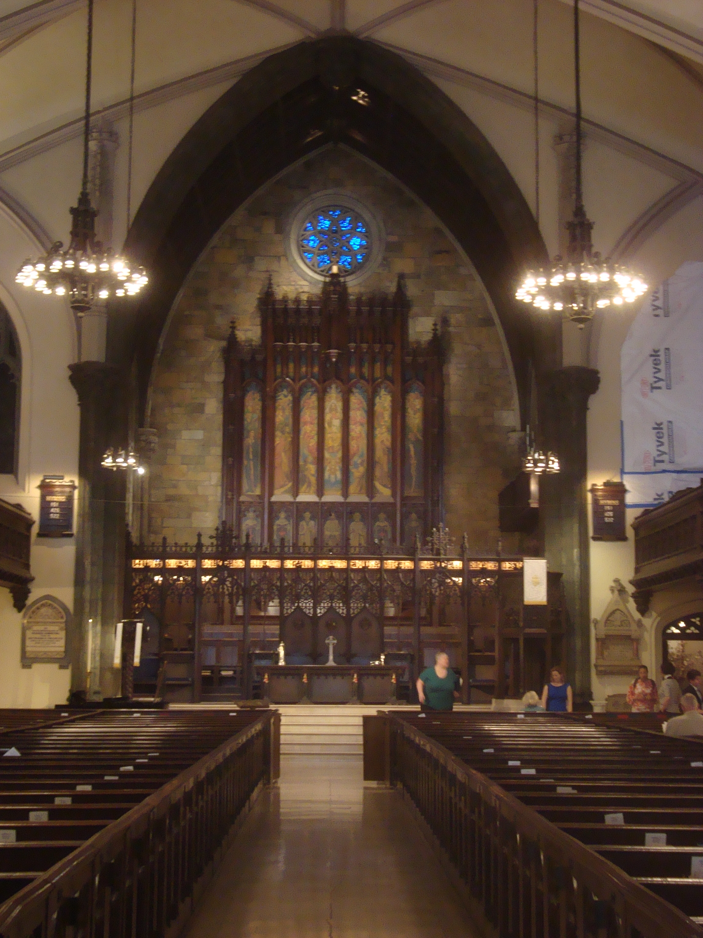 Interior of the First Presbyterian Church