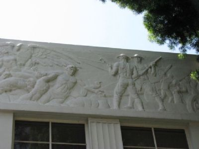 West side bas-relief image. Click for full size.