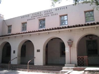 Burbank Post Office and Markers image. Click for full size.