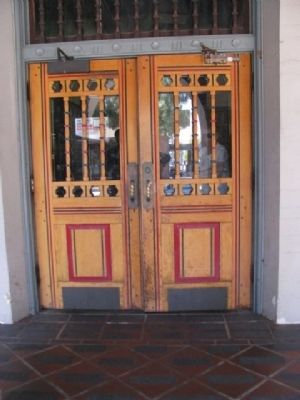 Burbank Post Office Entrance image. Click for full size.