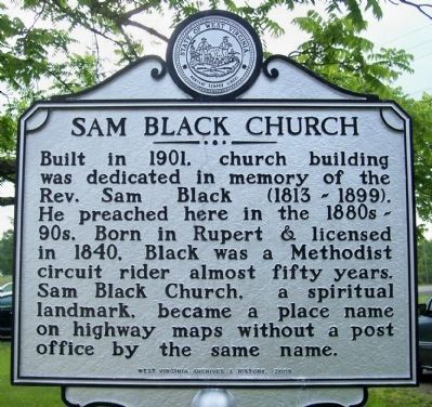 Sam Black Church Marker image. Click for full size.