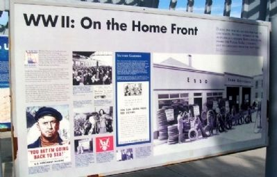 WWII: On the Home Front Marker image. Click for full size.