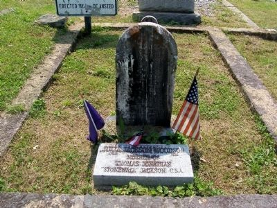 Julia Jackson Woodson Grave Stone image. Click for full size.